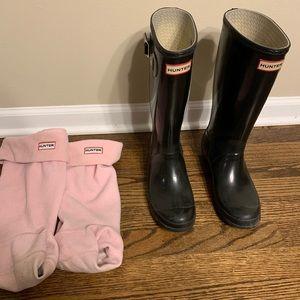 Kids Original Gloss Hunter Boots. Will fit W8.
